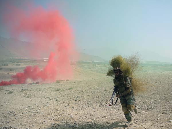 আফগান সেনার মহড়া চলছে।—ফাইল চিত্র।