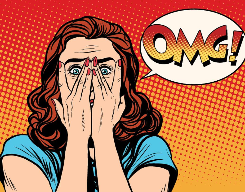 ফেসবুক আসার পর এই শর্ট ফর্মের এতই জনপ্রিয়তা বাড়ে যে, 'ওএমজি' লেখা জিফ ইমেজ ও স্টিকারও চলে আসে সোশ্যাল মিডিয়াগুলোয়। শুধু ওএমজি-ই নয়, এলওএল (লোল), এএসএপি (অ্যাজ সুন অ্যাজ পসিবল) ইত্যাদি অ্যাব্রিভিয়েশন নিয়েও মজাদার স্টিকার তৈরি হয়।