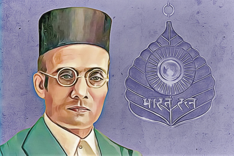 বিনায়ক দামোদর সাভারকর। গ্রাফিক: শৌভিক দেবনাথ