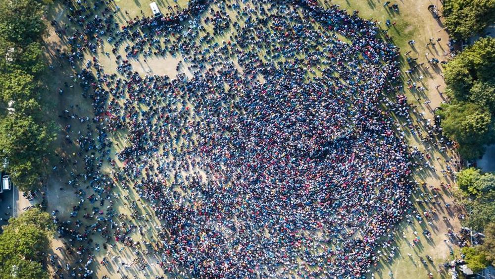 জনজোয়ার: লতাশিলের মাঠে প্রতিবাদীদের সমাবেশ। বৃহস্পতিবার গুয়াহাটিতে। ছবি: সংগৃহীত।