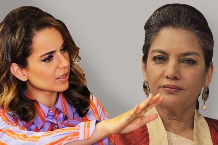 কঙ্গনা রানাউত ও শাবানা আজমি। গ্রাফিক: তিয়াসা দাস।