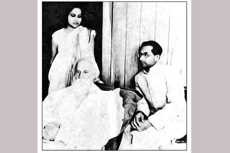 যৌবনে রবীন্দ্রনাথ ঠাকুর ও স্বামী অনিল চন্দের সঙ্গে রানী