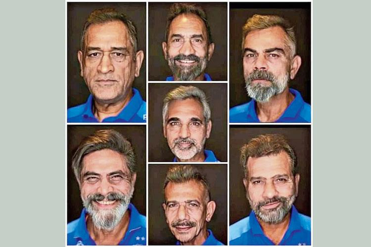 পরিবর্তন: ভারতীয় ক্রিকেট দলের সদস্যদের 'বার্ধক্যের' ছবির এই কোলাজ ভাইরাল সোশ্যাল মিডিয়ায়।