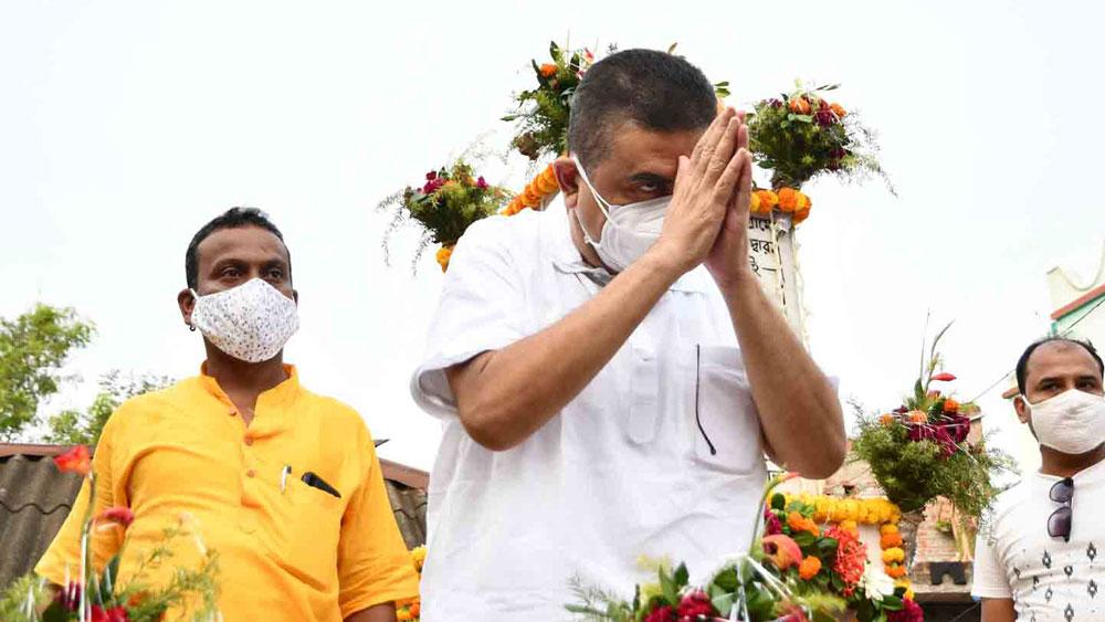নেতাইয়ে শুভেন্দু অধিকারী। ছবি: দেবরাজ ঘোষ