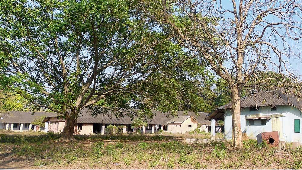 চন্দ্রকোনা রোডের ডিগ্রি এলাকার যক্ষ্মা হাসপাতাল। নিজস্ব চিত্র
