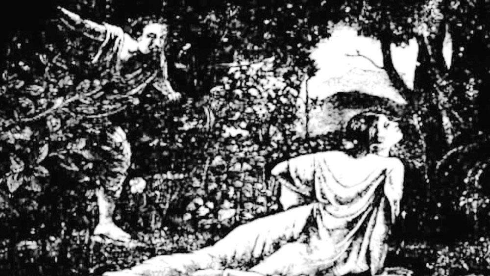 মোহিনী: পাঁচকড়ি দে'র 'মায়াবী' উপন্যাসের একটি অলঙ্করণ।