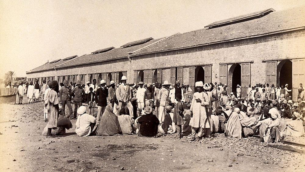 চিকিৎসা: ১৮৯৭ সালে করাচির কোয়রান্টিন শিবির। (ছবি সৌজন্য: উইকিমিডিয়া কমন্স)