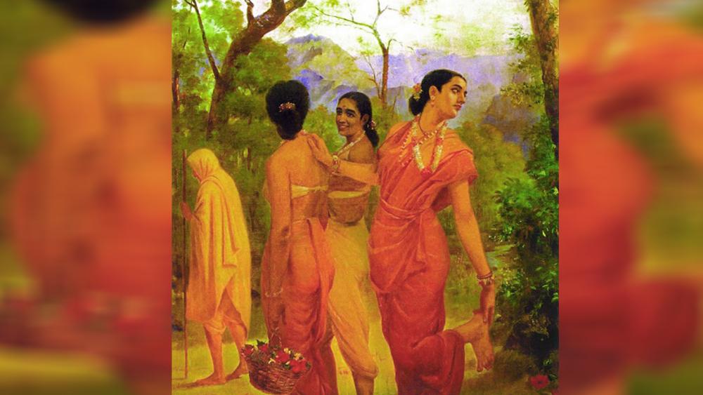 যৌবনপ্রমত্তা: শকুন্তলা, রাজা রবি বর্মার আঁকা ছবিতে
