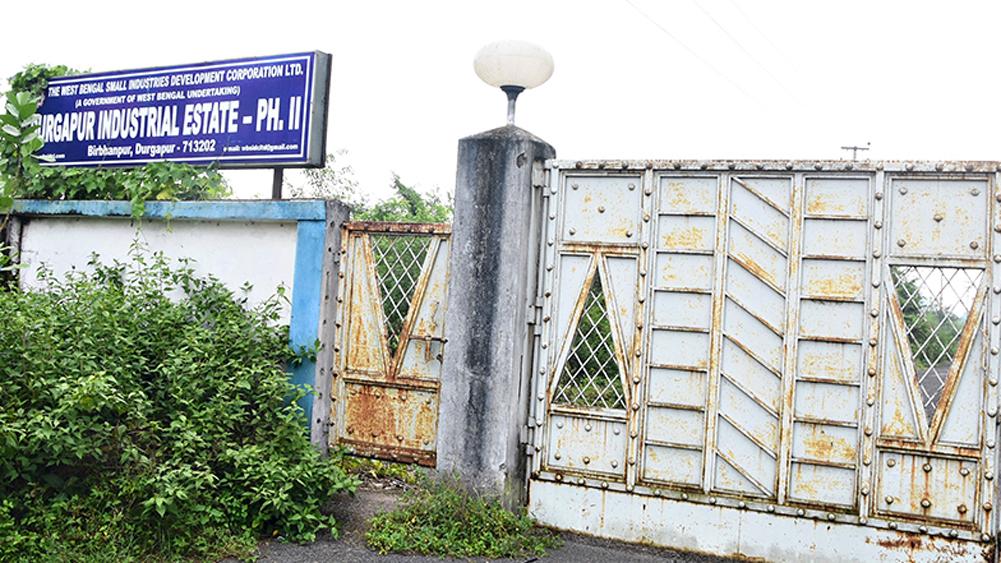 দুর্গাপুর ইনডাস্ট্রিয়াল এস্টেট ফেজ়-২। নিজস্ব চিত্র
