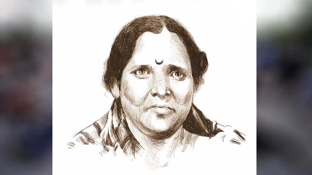 মাদক-রানি: মধ্যবয়সি বেবি পাটানকরের প্রতিকৃতি।