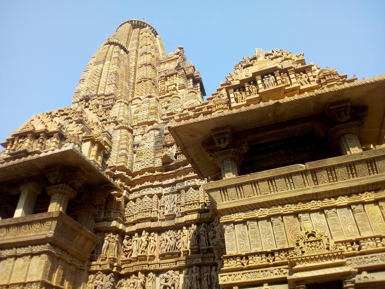 ছতরপুর জেলার খাজুরাহো মন্দির প্রাঙ্গণ