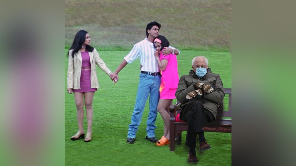 'কুছ কুছ হোতা হ্যায়' ছবির পরিচিত দৃশ্যে ঢুকে পড়েছেন বার্নি স্যান্ডার্স।