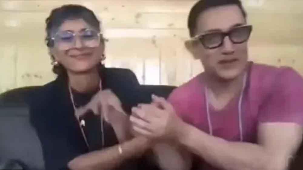 কিরণ রাও এবং আমির খান।