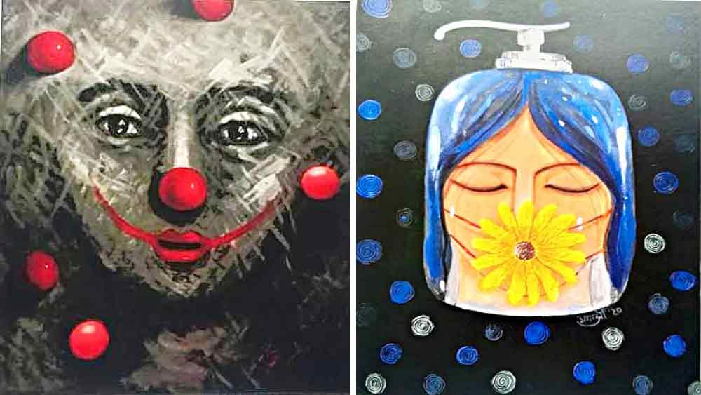 মুখাবয়ব: 'মাই ক্যালাইডোস্কোপ' প্রদর্শনীর চিত্রকর্ম