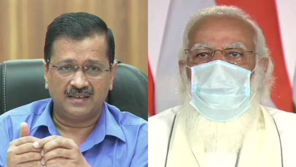 অরবিন্দ কেজরীবাল এবং নরেন্দ্র মোদী।