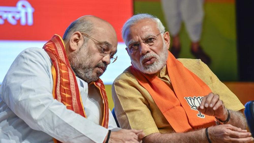 অমিত শাহ এবং নরেন্দ্র মোদী।