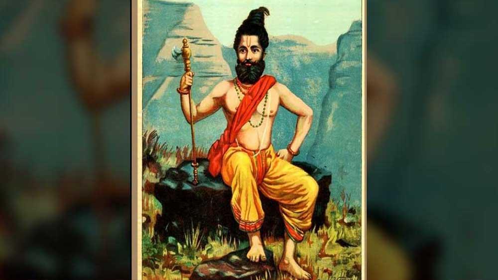 রাজা রবি বর্মার আঁকা পরশুরামের চিত্র। সূত্র: উইকিপিডিয়া