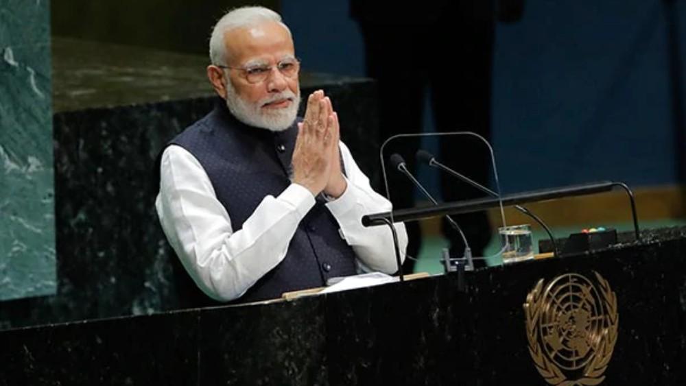 রাষ্ট্রপুঞ্জে প্রধানমন্ত্রী নরেন্দ্র মোদী।