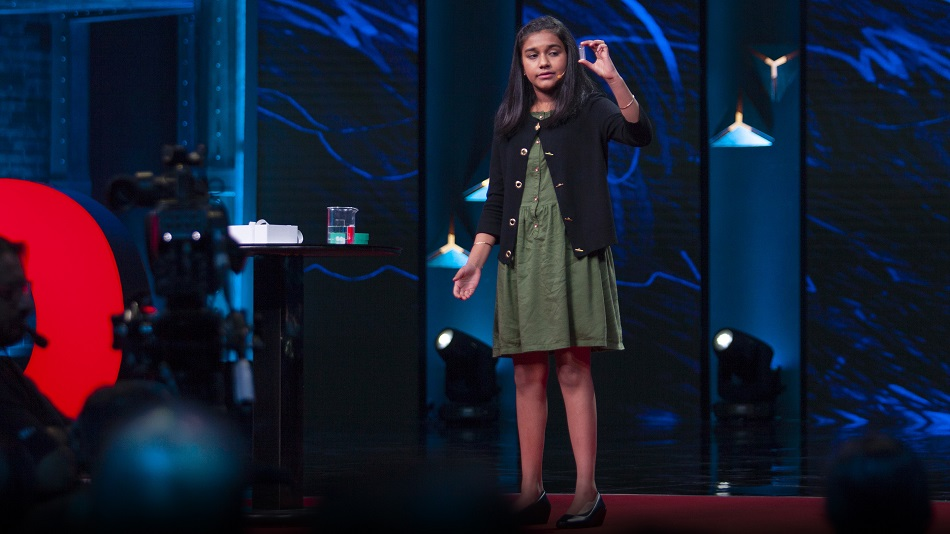 Gitanjali's work has touched on a variety of issues, from cyberbullying to opioid addiction to contaminated drinking water. PHOTO: TED