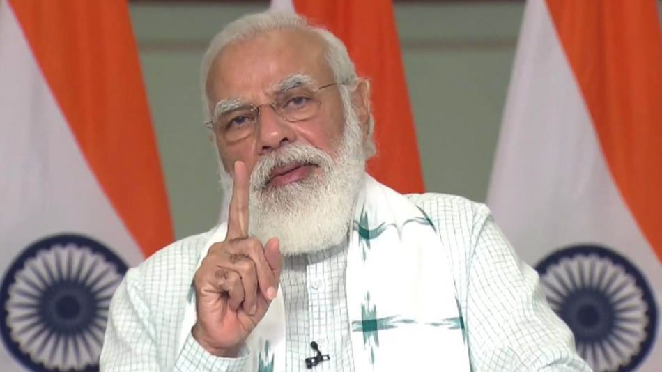 PM Modi encourages students to focus on their abilities to move ahead in life, despite the ongoing pandemic. PHOTO: Twitter