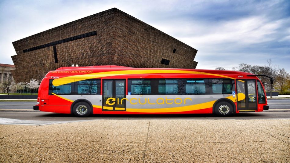 Caption: An e-bus with flash-charging technology can improve the quality of life by reducing pollution. SOURCE: Unsplash