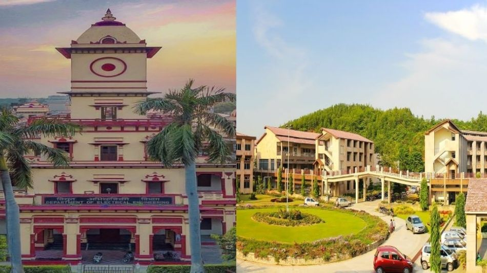 The joint doctoral programme offered by IIT BHU (Left) and IIT Guwahati (Right) is the first of its kind. SOURCE: Institution websites