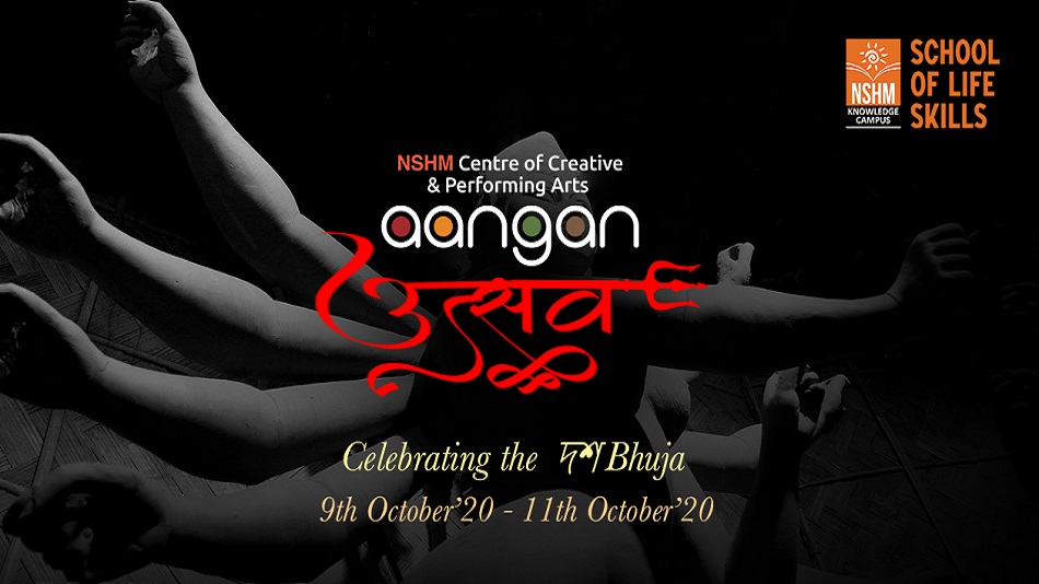 CAPTION: Get ready to welcome Durga with Aangan Utsav, a virtual festival hosted by the NSHM Centre of Creative and Performing Arts, from October 9 to 11 PHOTO: NSHM