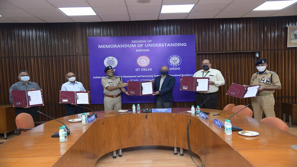 IIT Delhi, DRDO and CRPF have signed an MoU for the betterment of the internal security of India. PHOTO: Twitter
