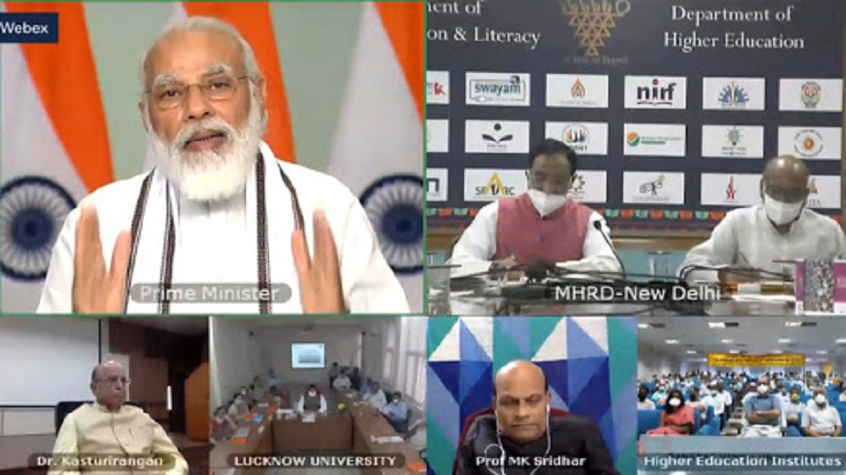 This will be the first time when PM Modi will speak on the NEP 2020. PHOTO: Webinar