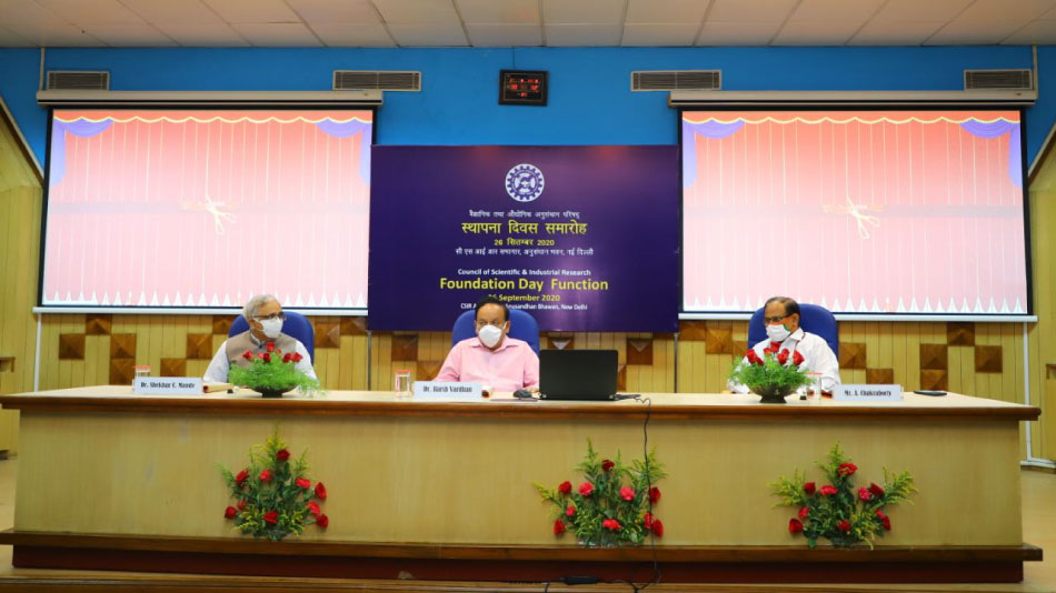 To depict the contribution of CSIR labs and institutes to fight against the COVID-19 pandemic in India, a book and a short film were also released.
