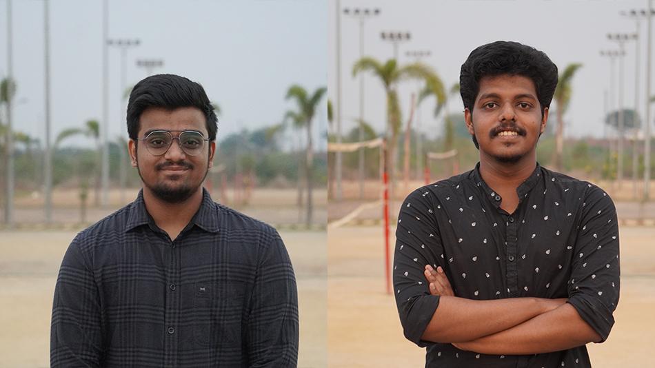 Shashank Maddali (left), and Rahul Rajeev
