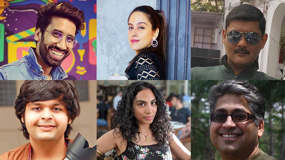 L-R,(Clockwise) Abhilash Thapliyal, Drisshti Gambhir Goyal, Rajeev Narayan, Sushant Kalra, Puneet Sikka and Amit Khanna at Amity University Online's InstaClass. Source: Facebook