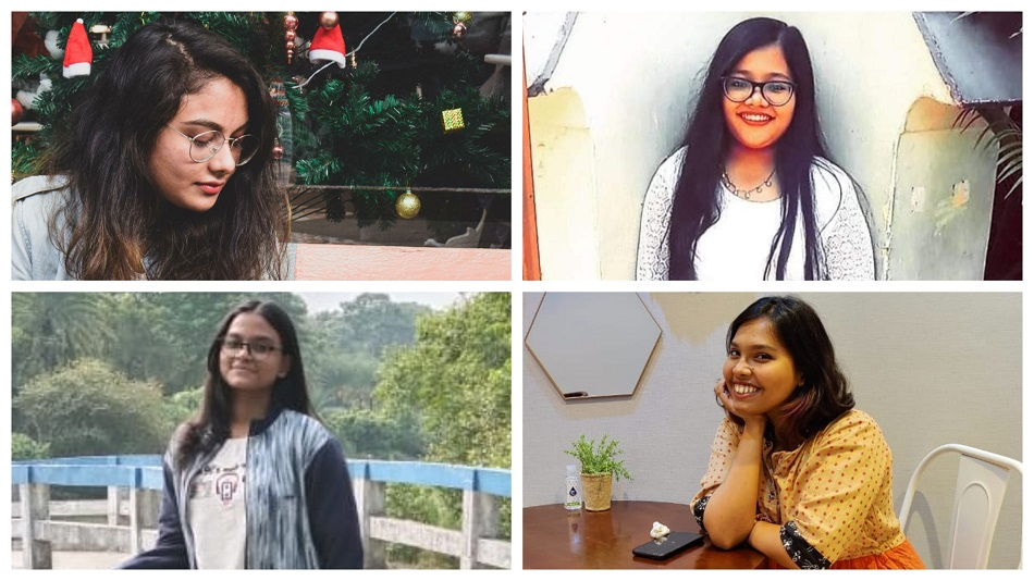 (Clockwise from top left) Shreya Shome Chowdhury, Shruti Sengupta, Dweepi Chatterjee, and Shrabana Guha speak about how Instagram reels are a storehouse of information. Image Source: Instagram