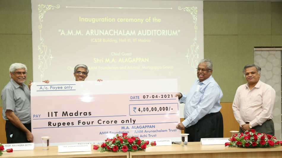 The auditorium is a modern facility for hosting conferences, workshops and seminars for the benefit of students, researchers and faculty. Image Source: IIT Madras