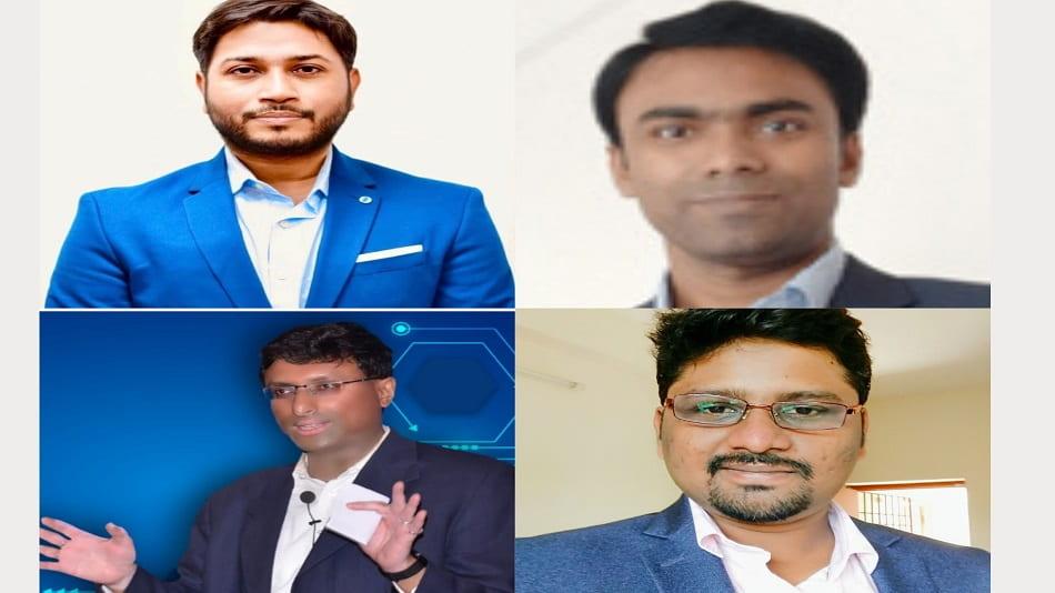 (Clockwise from top left) Angshu Ghosh, Sudip Jana, Sudhir K and (moderator) Anindya Ghosh.