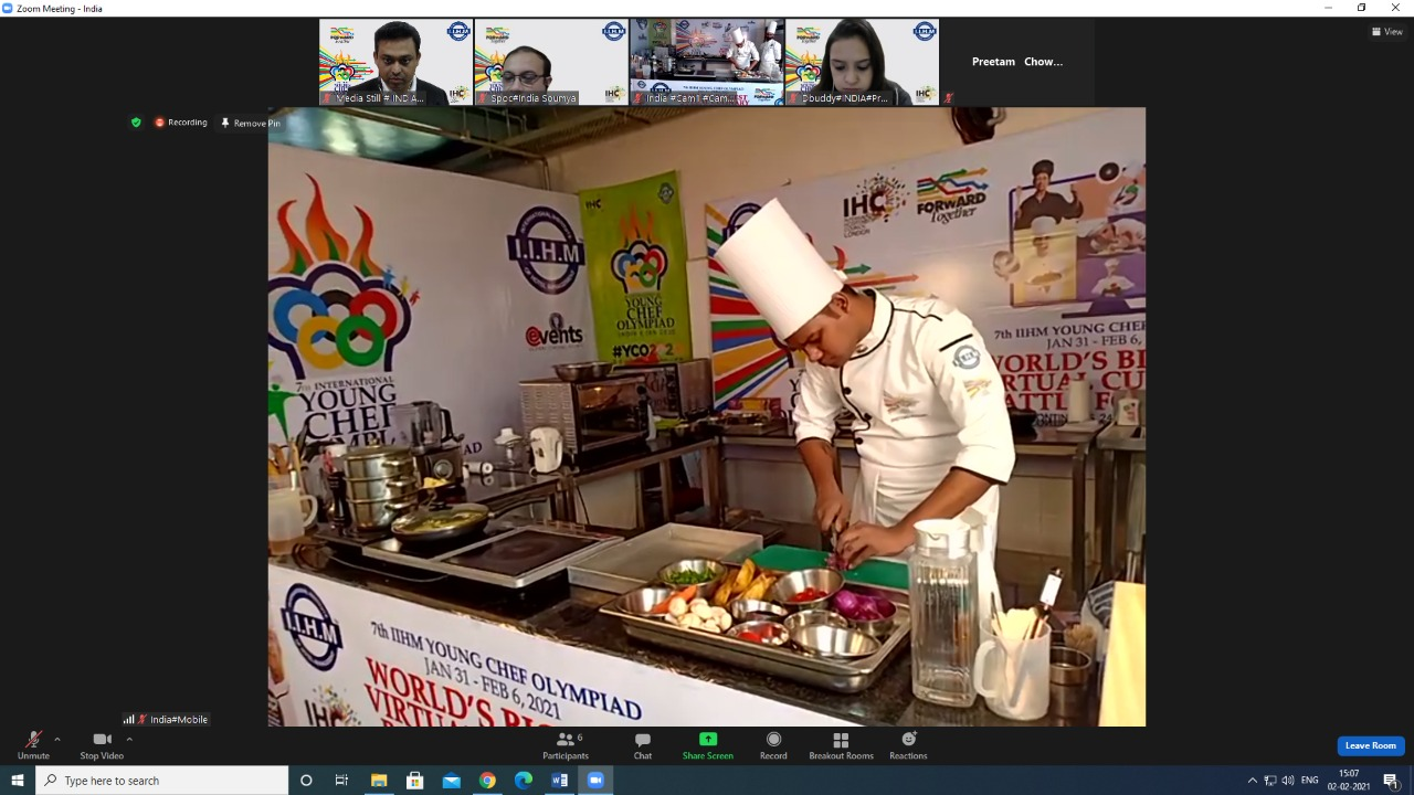 India contestant Swetang Ranjan in action. Image Source: IIHM
