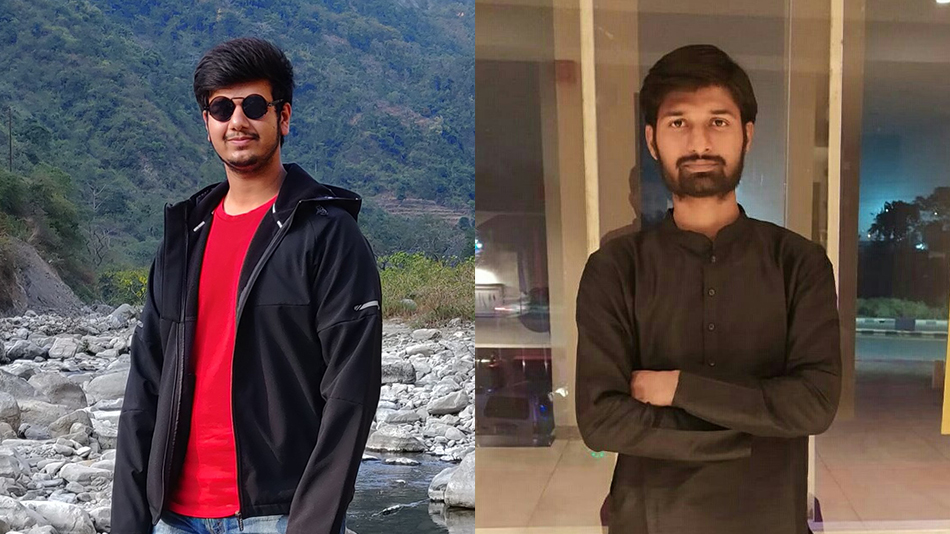 Spring fest students: Divakar Chauhan (left) and Abhishek Raj. source: springfest.in