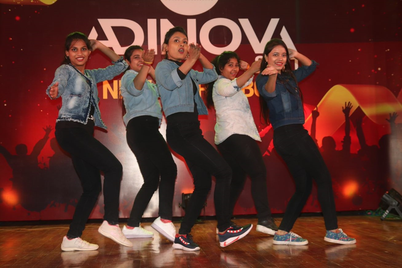 Students of Adamas University perform at the prize giving ceremony. source: Adamas University