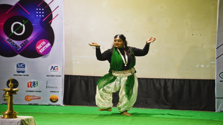 Zakiya Khatoon performed the opening dance at Ground Zero V.6. Image Source: Facebook