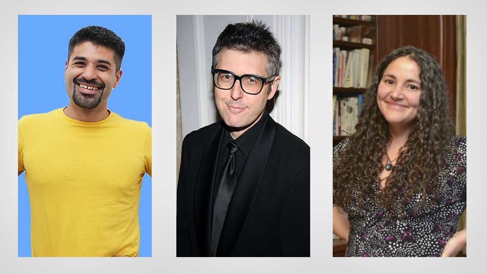 (From left) Ashdin Doctor, Laurie Santos and Ira Glass. PHOTO: YouTube and Pinterest