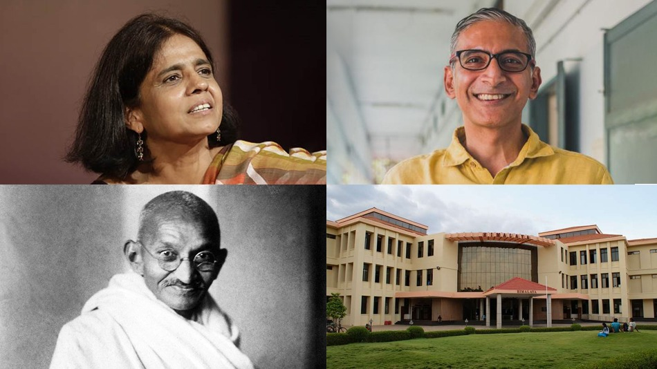 (Clockwise from top left) Sunita Narain will attend a webinar moderated by professor Sudhir Chella Rajan of IIT Madras at 11am on January 26. The theme of the webinar is Gandhi.