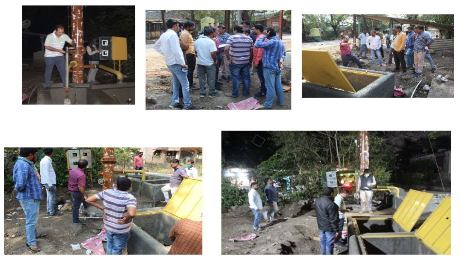 The IIT Bombay team demonstrated the actual implementation of such solutions at the project site in Palghar district, Maharashtra.   Image Source: IIT Bombay