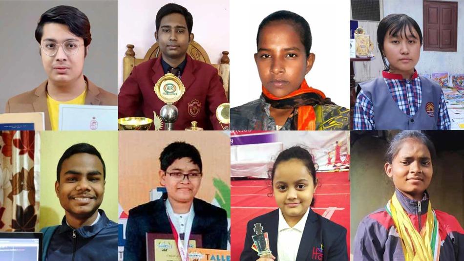 (From left) Souhardya De, Tanuj Samaddar,Joyti Kumari, Venish Keisham, Ayush Ranjan, Anvesh Shubham Pradhan, Arshiya Das and Savita  Kumari. PHOTO: IIT Bombay