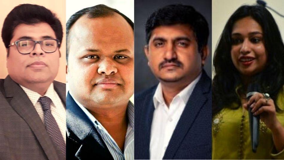 (From left) Chittresh Coomer, Vivek Gupta, Shrikant Talluri, and (moderator) Surabhi Dewra.