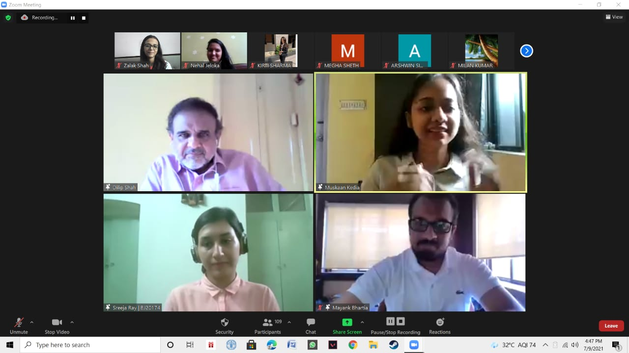 Speakers and some of the participants at the webinar 'Make It to the B-Schools' organised by The Bhawanipur Education Society.