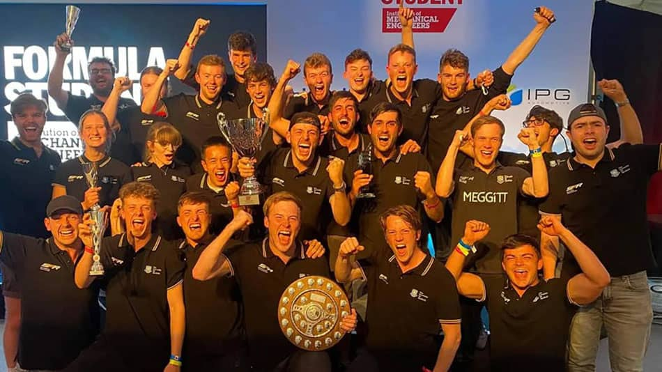 Sheffield Formula Racing has become only the second British team in history to win the Formula Student UK competition at Silverstone.   Photo: Facebook