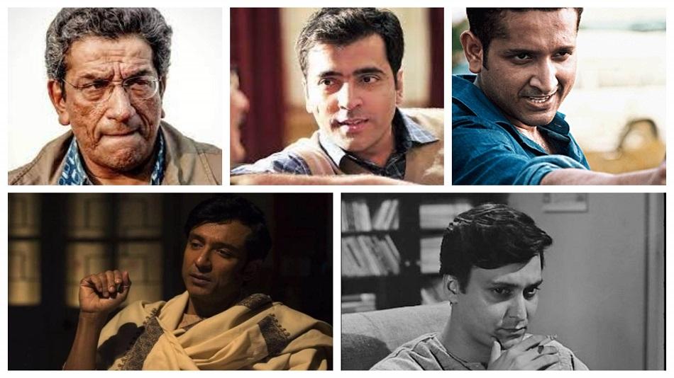 (L-R, clockwise) Sabyasachi Chakrabarty, Abir Chatterjee, Parambrata Chattopadhyay, Soumitra Chatterjee, and Tota Roy Choudhury. Source: IMDb, and Facebook