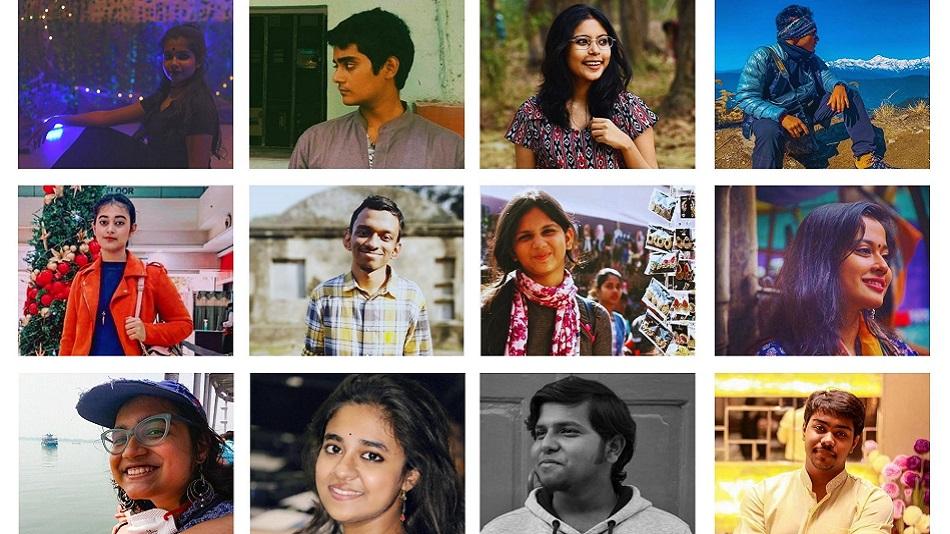 (L-R, first row) Srijaini Ghosh, Suddhosatva Majumder, Sohinee Basu and Aritra Biswas. (L-R, second row) Daita Dasgupta, Saswata Banerjee, Natasha Aziz and Meghna Khan. (L-R, third row) Astyartha Das, Ankita Sen, Aikantik Bag and Sankalpa Pal.