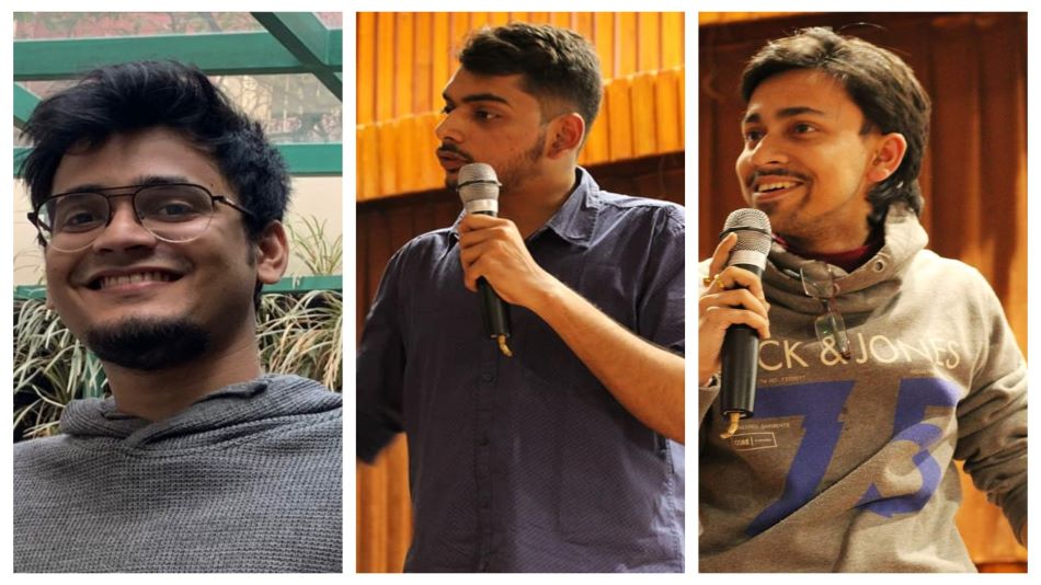 (L-R) Stand-up comedians Nitin Gupta, Anneswan Adhwaryu and Shiladitya Chatterjee. Source: Facebook