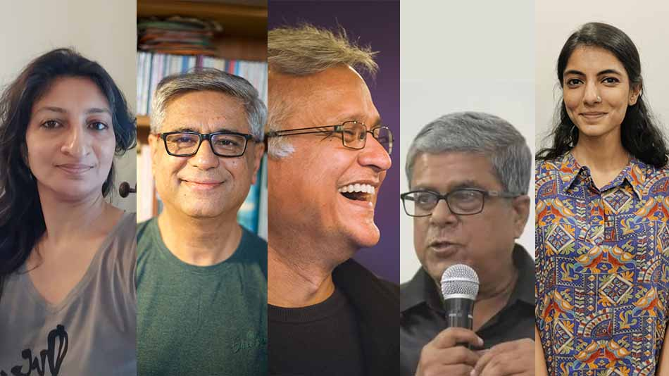 (L-R) Supriya Newar, Mahesh Dattani, Sunil Bhandari, SV Raman, and Nishi Joshi. Image Source: The Creative Arts Academy.